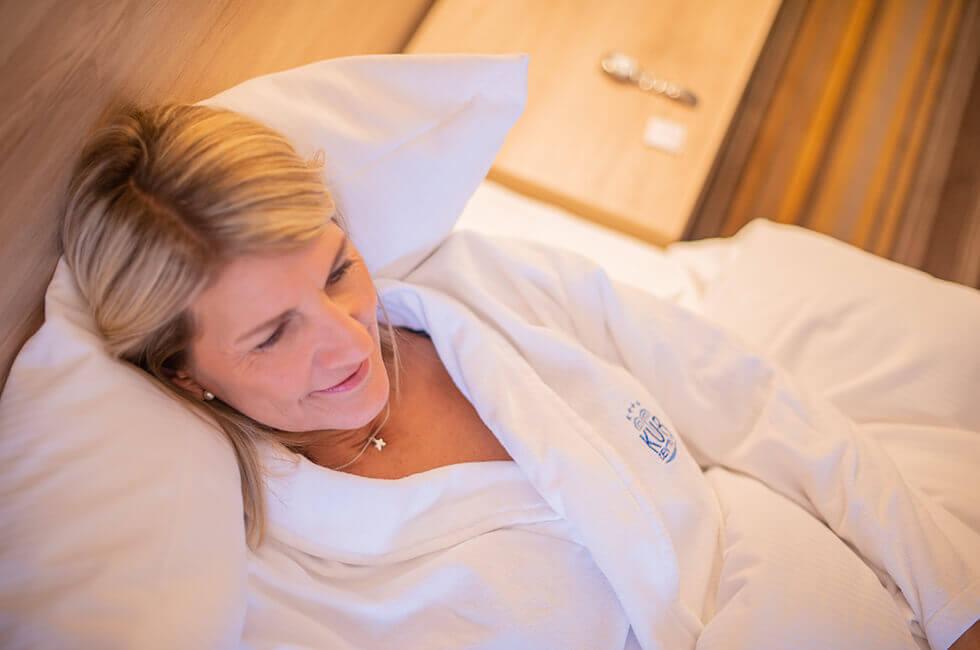 Zeit zum Ausspannen während Ihrer Therapien im Kurzentrum finden Sie in Ihren gemütlichen Hotelzimmern