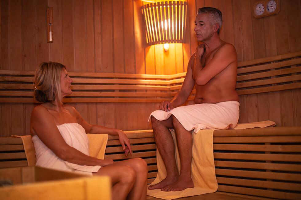 Wärme genießen in der Saunalandschaft