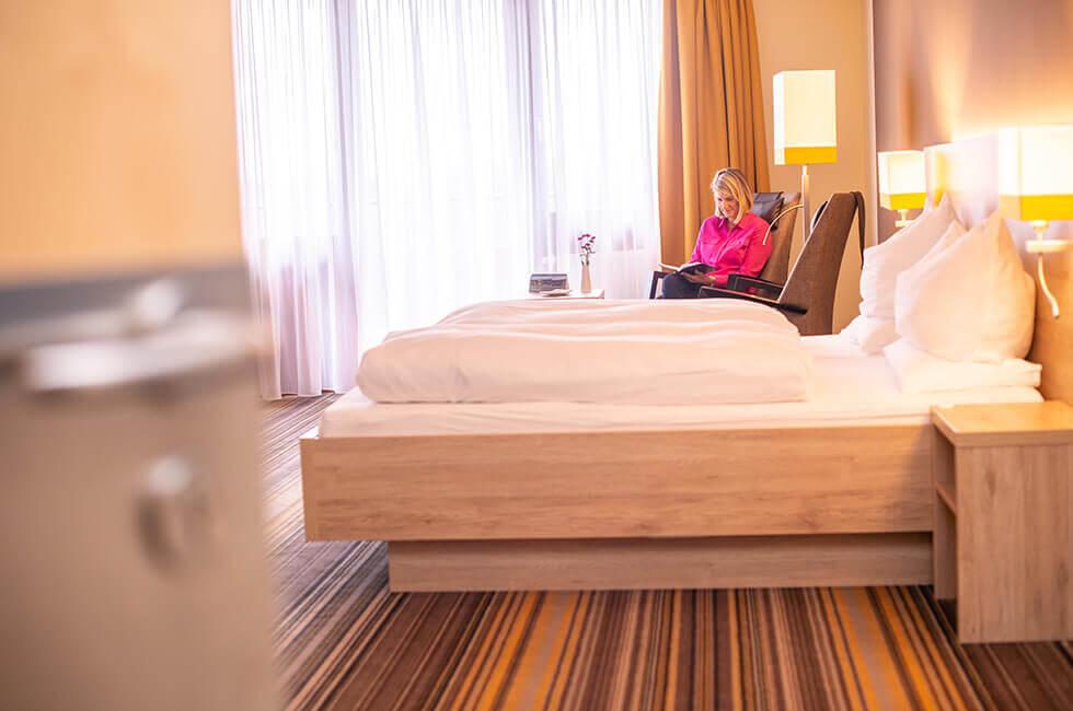 Helle und freundliche Zimmer im 4-Sterne Hotel in Weißenstadt
