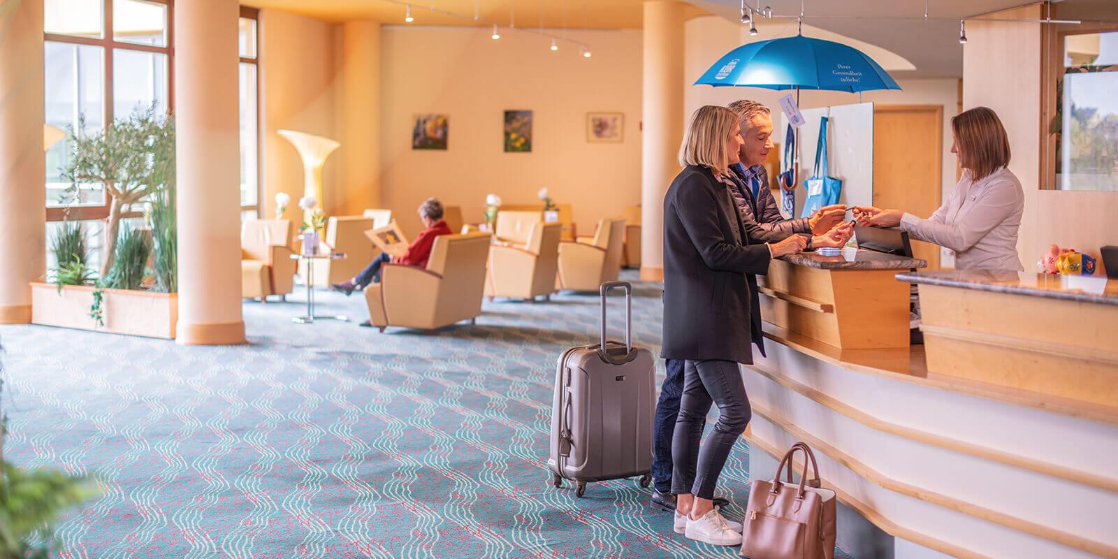 Check in im Vier-Sterne-Hotel für einen entspannten Gesundheitsurlaub