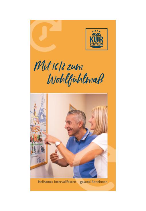 Informationsflyer zu Intervallfasten 16/8 im Kurzentrum Weißenstadt am See 2020