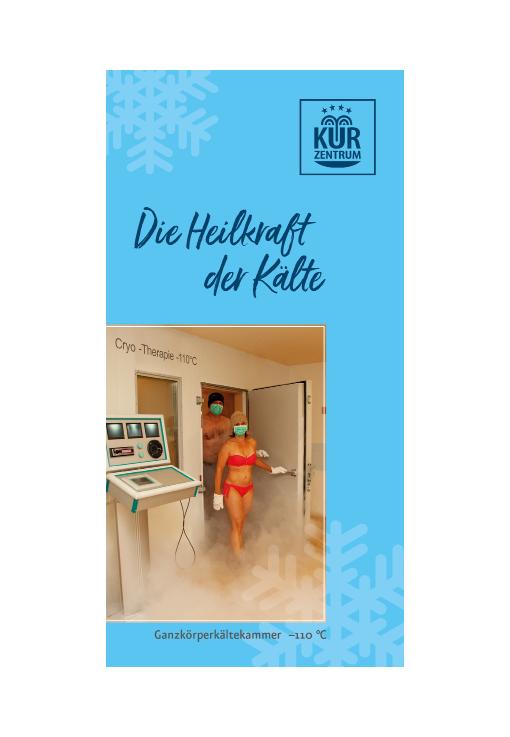 Informationsflyer zur Ganzkörperkältetherapie im Kurzentrum Weißenstadt am See 2020